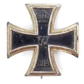 German WW1 Imperial IRON CROSS 1 CLASS 1914-1918 CONVEX VAULTED